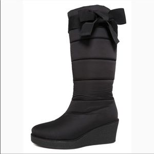 Kate Spade Black Wedge Boots